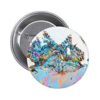 fractal-127- 6 cm round badge