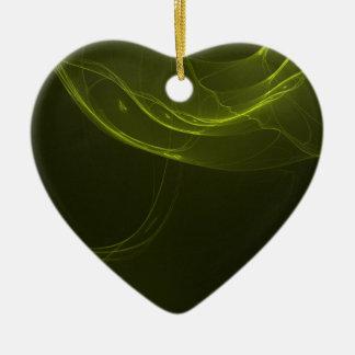 fractal-128-ut ceramic heart decoration