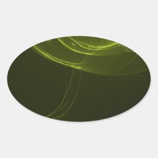 fractal-128-ut oval sticker
