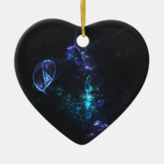 fractal 13 ceramic heart decoration