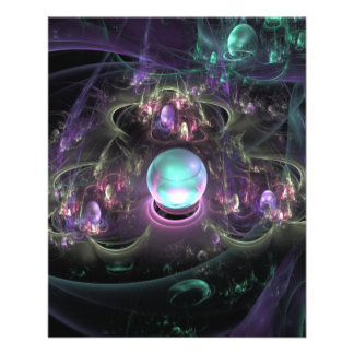 fractal-313795 FANTASY WORLDS ALIEN PLANET NEBULA 11.5 Cm X 14 Cm Flyer