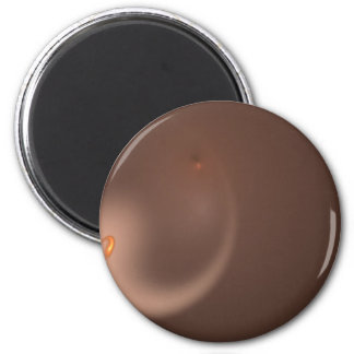 Fractal 37 Orange Flair Fridge Magnet