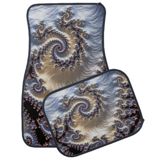 Fractal 3D Swirl Design Set of 4 Car Mats