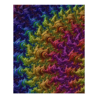 fractal-403463 COLORFUL DIGITAL ARTWORK fractal ar 11.5 Cm X 14 Cm Flyer