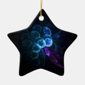 fractal 46 colorful ceramic star decoration