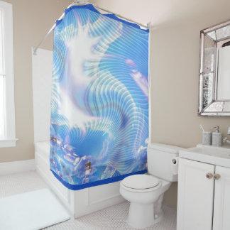 fractal 4 shower curtain