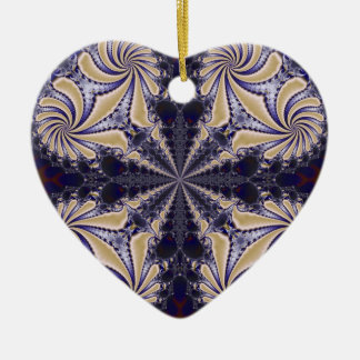 Fractal 592 ceramic heart decoration