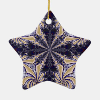 Fractal 592 ceramic star decoration