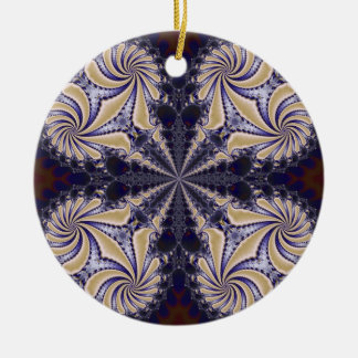 Fractal 592 round ceramic decoration