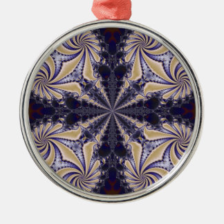 Fractal 592 Silver-Colored round decoration