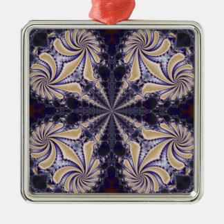 Fractal 592 Silver-Colored square decoration