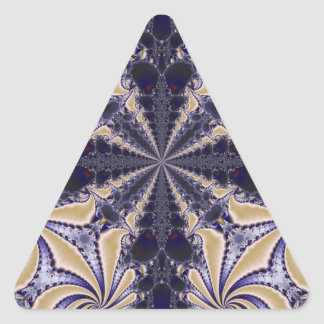 Fractal 592 triangle stickers