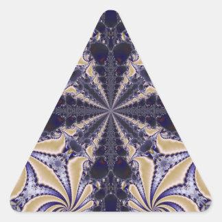Fractal 592 triangle sticker