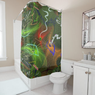 fractal 6 shower curtain