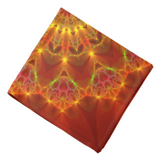 Fractal 81 an Autumn Colors Kaleidoscope Bandana