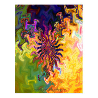 Fractal Abstract Flower Postcard