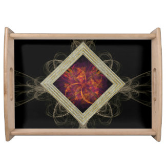 Fractal Abstract Serving Tray