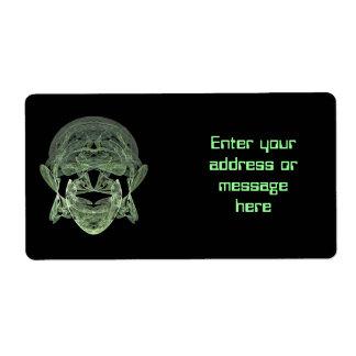 Fractal Alien Mailing Label Shipping Label