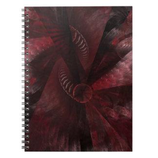 fractal: anger spiral notebook
