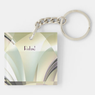 "Fractal ""Arcs of Dream"" Double-Sided Square Acrylic Key Ring"