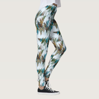 Fractal Arctic Camouflage Leggings