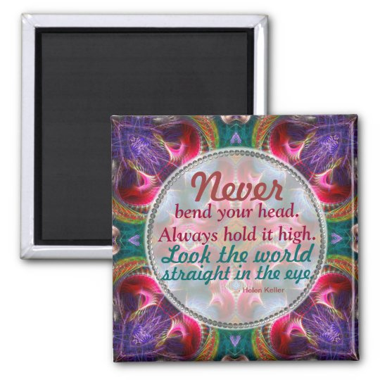 Fractal Art Fantasy Motivational Quote Magnet