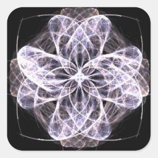 Fractal Art Flower with Button Center Stickers