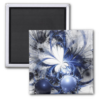 Fractal Art Magnet: Blizzard Square Magnet