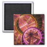 Fractal Art Magnet: Industrial II Square Magnet