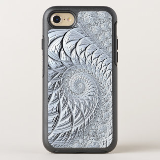 Fractal Art, Modern, White, Swirl OtterBox Symmetry iPhone 8/7 Case