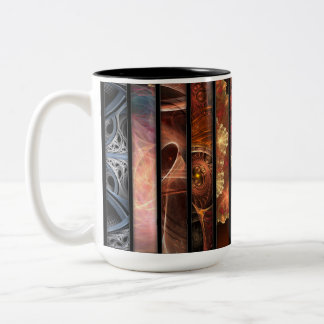 Fractal Art Pieces of Liz Molnar Two-Tone Mug