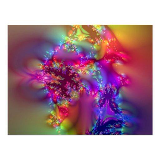 fractal art postcard