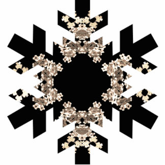 Fractal Art Snowflake with Mini Cyrstals Photo Sculpture Decoration