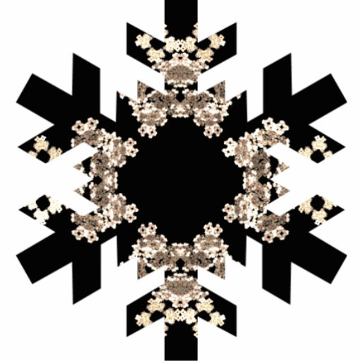 Fractal Art Snowflake with Mini Cyrstals Acrylic Cut Out
