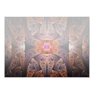 Fractal - Aztec - The Aztecs 13 Cm X 18 Cm Invitation Card