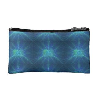 Fractal azul makeup bag