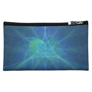 Fractal azul cosmetic bags