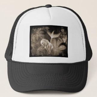 Fractal Background 3D Mermaid Brown Negative Trucker Hat