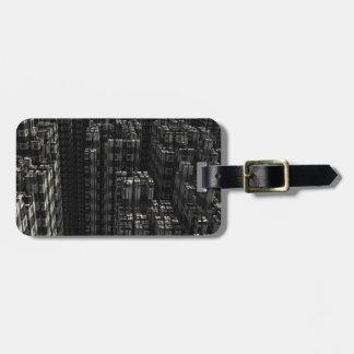 Fractal background bag tag