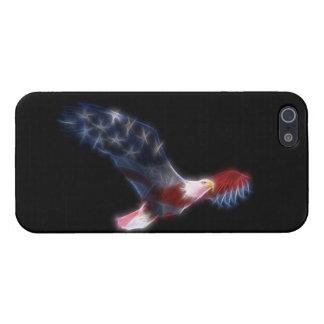 Fractal Bald Eagle Flag Patriotic Cases For iPhone 5