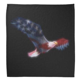 Fractal Bald Eagle Patriotic Bandana