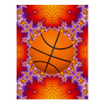 Fractal Basketball Design Postcards