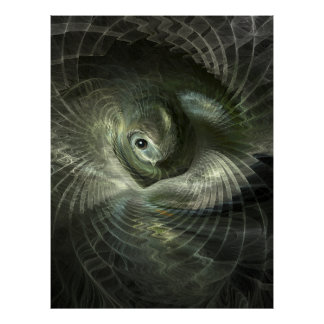 Fractal Bird in its Nest Print