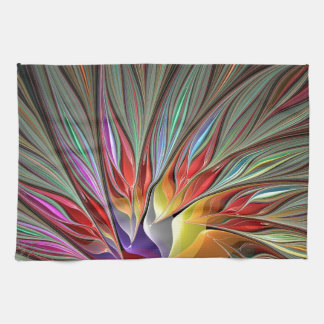 Fractal Bird of Paradise Hand Towel