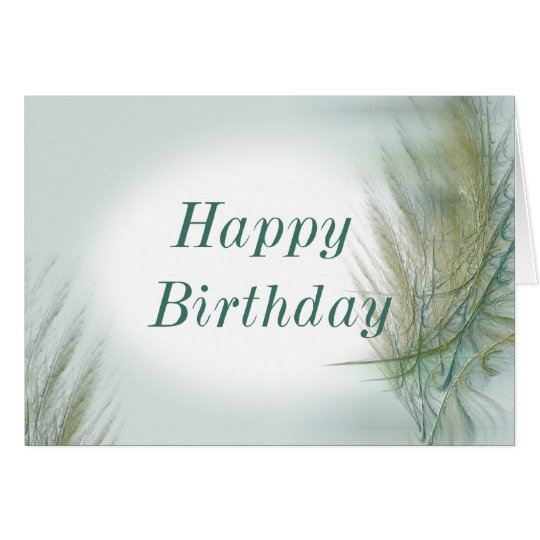 Fractal Birthday Card