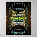 Fractal Blast Party Flyer Poster