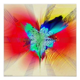 Fractal Blossom #1.3 Print
