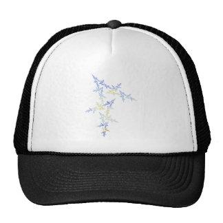 Fractal Blue and Gold Stars Trucker Hat
