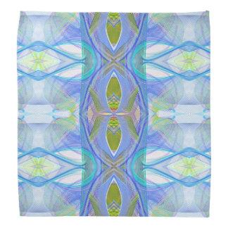 fractal blue ethnic pattern. bandana