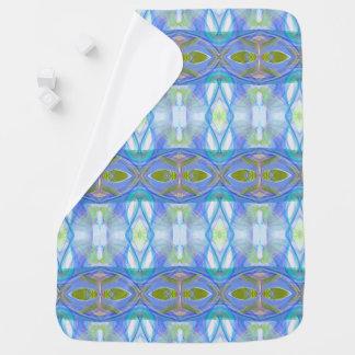 fractal blue ethnic pattern. buggy blankets